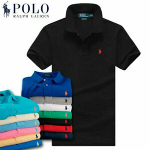 Neu Stil Mann RalphLauren T-Shirt Mode Poloshirt Small Pony Custom Fit Kurzarm