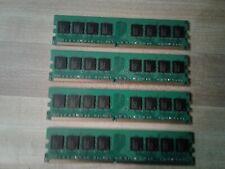 4GB SET - CT 1GB X 4 PC2-3200U DDR2 DESKTOP MEMORY RAM - 4 PIECES @ 1GB EACH