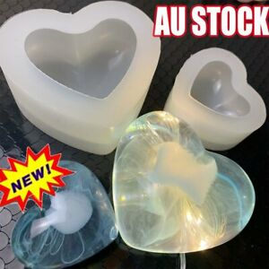 Silicone 3D Love Heart Mold Aroma Gypsum Mould Epoxy Resin Molds Jewelry Tools