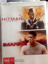 Hitman - Uncut / The Marine (DVD, 2008, 2-Disc Set) * USED *