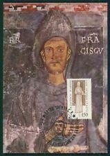 ITALY MK 1976 SAINT ST. FRANCIS OF ASSISI CARTE MAXIMUM CARD MC CM RARE!! dy30