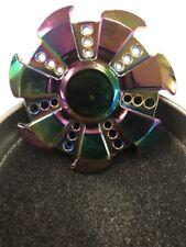 Full Metal Rainbow Hand Spinner Fidget Finger Spinner in Gift Tin *New*