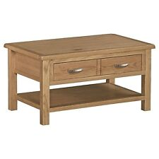 Roseland Furniture London Oak Light Lacquered Coffee Table Beige