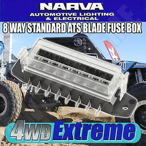 NARVA 8 WAY FUSE BOX CIRCUIT SUITS ATS STANDARD BLADE FUSE BREAKER 54424BL