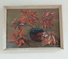 "Vintage Original Tretchikoff ""Poinsettas"" Art Print With Original 1960s Frame."