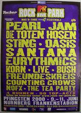 PEARL JAM GERMAN FESTIVAL CONCERT TOUR POSTER 2000 BINAURAL ROCK IM PARK