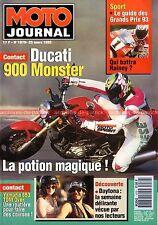 MOTO JOURNAL 1079 Test DUCATI 900 Monster YAMAHA TDM 850 SR 125 TW 200 SUZUKI GN