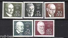 DDR Nr.  1386-90  **  Berühmte Personen