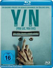 BLU-RAY - Y/N YES/NO - YOU LIE, YOU DIE - Nueva