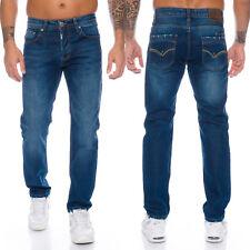 Lorenzo Loren Designer Herren Jeans Hose Regular Fit Stonewashed Jeans W29-W44