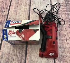 Dirt Devil Ultra Hand Vac 4 AMP Powerful Motor Tested 2 Speed Long Cord Red