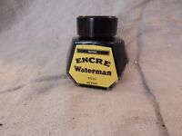 Vintage Encre Waterman Black Ink Jar 50 ml