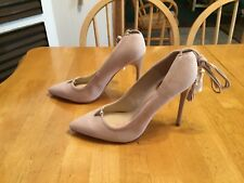 New Brian Atwood Hanna Bone Suede Lace up Wrap Pumps SHOES Stiletto Heels 7.5