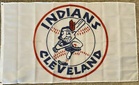 NEW Cleveland Indians Flag Banner 3x5 Ft Chief Wahoo Logo Retro Throwback MLB