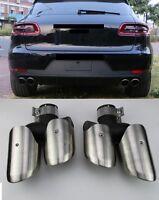 Für Porsche Macan Endrohre Auspuffblende Auspuff pipe 14-17 GTS Turbo 4S Look