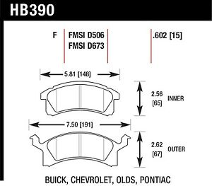 Hawk Performance HB390F.602 Virtually Noise-Free Disc Brake Pads