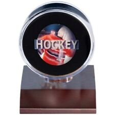 1 (One) Ultra Pro Wood Base Hockey Puck Holder Display Case