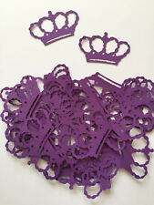 Princess Party Purple Crown Diecuts,Cardstock, Decorations, Scrapbooking, Cards
