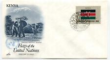 United Nations #406 Flag Series, Kenya, ArtCraft,  FDC