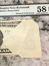 Fr#2023-E Dramatic Error Printed Fold /Butterfly Fold.Pmg 58 Epq.Catches Ur Eye.