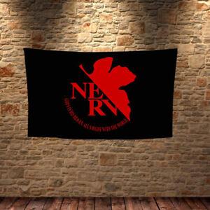 Neon Genesis Evangelion NERV Anime Cosplay Flag