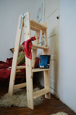 Double Home Decorative Wooden Ladder, Storage Display, Handmade, Vintage