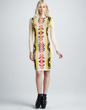 Alice By Temperley Santos Tribal Bandage Knit Party Dress XS UK 8 - 10 £345 New