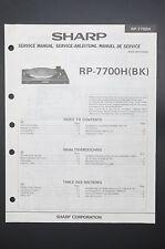 SHARP RP-7700H Original Service-Manual/Service-Anleitung/Schaltplan! o42