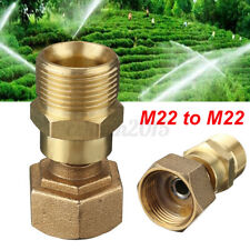 M22 X M22 Coupling Connector Swivel BRASS Pressure Washer Hose Adapter !