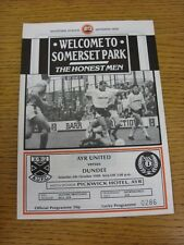 06/10/1990 Ayr United v Dundee  (Excellent Condition)