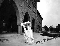 Photograph Vintage 1906 San Francisco Earthquake  Agassiz Statue 8x10