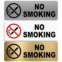 Aluminium Sign-No Smoking-WITH IMAGE-Metal-Warning Health & Safety Door Notice