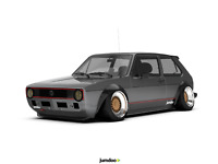 "Volkswagen VW Golf Mk1 & Mk2 Fender flares JDM  wide body kit 3.5"" 90mm 4pcs"
