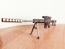 CF Sniper PSG-1 Miniature Gun metal model Keychain ring Ornament Gifts U.S.A