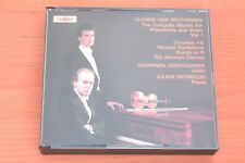 Beethoven Complete Works Pianoforte & Violin Vol 1 Leertouwer Reynolds 2CD Globe