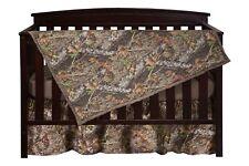 Mossy Oak Camo Crib Set Bedding, Sheet Skirt Blanket Camouflage Baby Toddler
