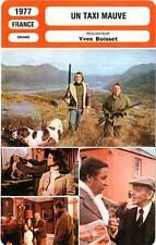 FICHE CINEMA : UN TAXI MAUVE - Rampling,Noiret,Astaire,Boissee1977 A Purple Taxi