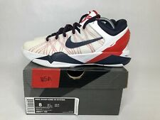 Nike Kobe 7 VII System Olympic USA Team 488371-102 Men's Shoes Size 8