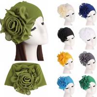 Fashion Hair Loss Head Scarf Turban Cap Big Flower Muslim Cancer Chemo Hat Cover