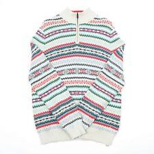 VGC Vintage NAUTICA Quarter Zip Jumper | Mens L | Sweater 1/4 Retro Top