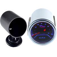 "2"" 52mm Car Smoke Len LED Tacho Tachometer Gauge Meter Dial + Pod Holder"
