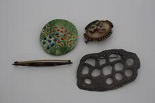 bijoux / lot de 4 broche divers  ref lot2