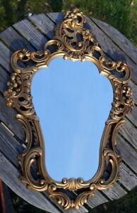 alter Spiegel im Prunkrahmen Barockrahmen Italien 60er edel & wertvoll