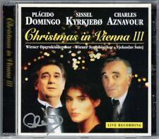 Placido DOMINGO Signiert CHRISTMAS IN VIENNA 3 Sissel KYRKJEBO AZNAVOUR Noel CD