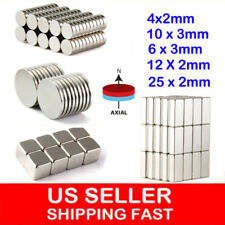 10-100Pcs Super Strong Block Round Disc Magnets Rare-Earth Neodymium Magnet N35