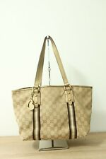 Authentic Gucci Canvas Brown Tote Bag #5971