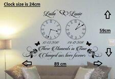 Personalised Kids Birth Date Vinyl Wall Art Clock X 2 Sticker Living Room