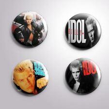 4 BILLY IDOL -  Pinbacks Badge Button 25mm 1''