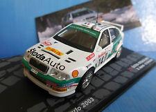 SKODA OCTAVIA WRC #14 AURIOL GIRAUDET RALLYE MONTE CARLO 2003 IXO ALTAYA 1/43