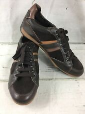 Geox Respira Sports Men Shoes Sneakers Size 41 US 8.5 Brown Leather U34Z6X - NEW
